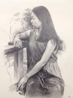 인체소묘 pencil on paper (3절지에 4B연필)
