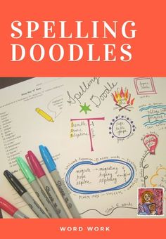 Fun interactive spelling activity, create a spelling doodle that groups spelling words together by patterns, rule, category, definition...
