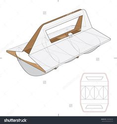 Tin Carrier And Holder With Die Cut Template Stock Vector Illustration 245698246 : Shutterstock Box Design Templates, Box Packaging Templates, Packaging Dielines, Takeaway Packaging, Bottle Packaging, Packaging Design, Paper Architecture, Metal Art Projects, Cardboard Art