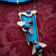 Exquisite necklace/choker in Art Nouveau style by Freyajewelryart