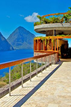 Follow the bridge to your next meal. Jade Mountain Resort (Soufriere, St. Lucia) - Jetsetter