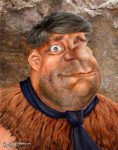 Fred Flinstone from 'The Flintstones'. (Source: worth1000)   Cartoon characters in real life look creepy . Sharing of 15 . via smosh.com http://www.essentialkids.com.au/photogallery/entertaining-kids/tv-and-movies/cartoon-characters-in-real-life-look-creepy-20140715-3bysk.html