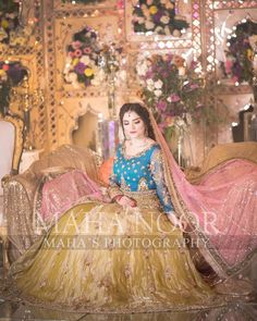 Bridal Mehndi Dresses, Pakistani Bridal Makeup, Asian Wedding Dress, Pakistani Formal Dresses, Pakistani Wedding Outfits, Bridal Dress Design, Wedding Dresses For Girls, Pakistani Dress Design, Bridal Outfits