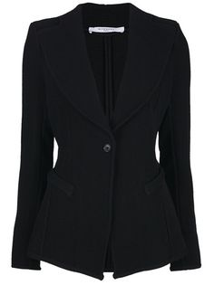Black cotton blend blazer from Givenchy