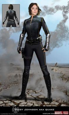Agents of SHIELD season 3 Daisy Johnson/Quake concept art