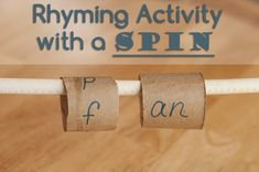 Fun rhyming activities for kids to try at home.