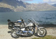 The Triumph Thunderbird hogs the camera and tries hard to block out the Triumph Scrambler...