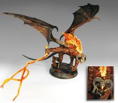 """Balrog of Morgoth from Games Workshop's """"Lord of the Rings"""" line Warhammer Dwarfs, Warhammer Art, Toy Art, Tolkien, Balrog Of Morgoth, Battle Games, Game Workshop, Middle Earth, Lord Of The Rings"""