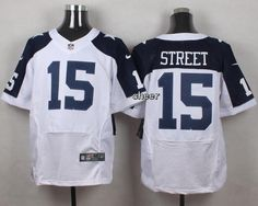 NFL Dallas Cowboys #15 street white Thanksgiving Jersey