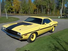 American Muscle Cars… 1970 Dodge Challenger R/T 440 Six-Pack V Code,FY1 Top Banana Yellow.