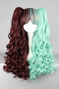 70cm/60cm Long Multi-Color Beautiful lolita wig Anime Wig