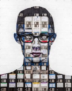 Floppy disks used as canvas for amazing futuristic paintings   Art   Creative Bloq