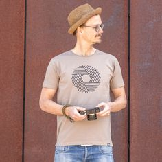 Aperture - male - Desert Taupe Aperture, Taupe, Photographers, Stylish, Mens Tops, T Shirt, Fashion, Openness, Beige