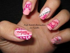 breast cancer nails - Click image to find more My Life Pinterest pins