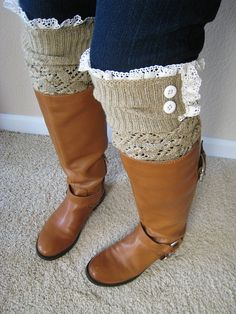The Lacey LouGold  Openwork Legwarmers with by GraceandLaceCo, $34.00