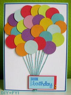 Geburtstagskarte mit vielen Ballons / Balloon birthday card