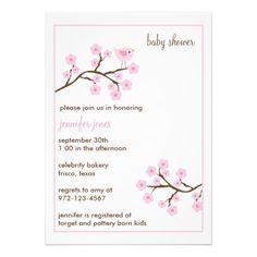 Cherry Blossom Baby Shower Invitations