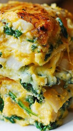 Thanksgiving Holidays: Butternut Squash and Spinach Three Cheese Lasagna Recipe ~ combines amazing flavors to create the ultimate pasta comfort food! Veggie Dishes, Pasta Dishes, Veggie Recipes, Vegetarian Recipes, Cooking Recipes, Healthy Recipes, Dinner Recipes, Healthy Vegetarian Lasagna, Food Dinners