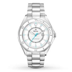 Bulova Women's Watch Precisionist. Love the blue hands and markings!