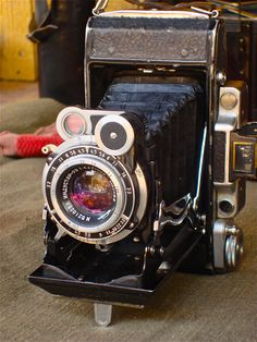 Antique camera at a flea market in Moscow