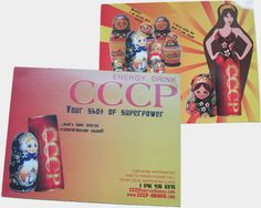 CoopCreative, CCCP Energy Drink post card 2008