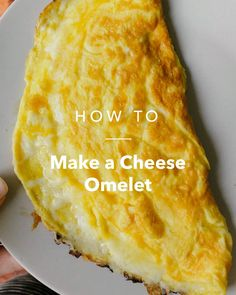 Make a Cheese Omelet Egg Omelette Recipe, Ham And Cheese Omelette, Healthy Omlet Recipes, Healthy Omelette, Savory Breakfast, Breakfast Omelette, Breakfast Ideas, Food Network Recipes, Cooking Recipes