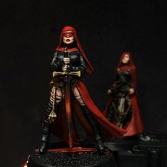 Nuns with Guns: Daughters of The Crucible / Orphanage painted! Sci Fi Miniatures, Dragon Miniatures, 40k Sisters Of Battle, Star Troopers, Deathwatch, Painting Studio, Painting Gallery, Fantasy Women, Fantasy Inspiration