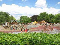 Spielplatz und Bullerberge, Planten un Blomen, Hamburg