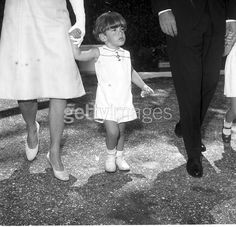First lady Jacqueline Kennedy and John Jr. attend Mass on Easter Sunday ~ Palm Beach, April 14, 1963.