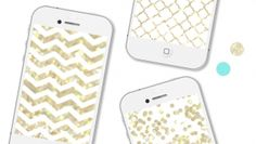 White + gold, chevron and Moroccan patterns are some of my favourite things.