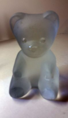 Frosted Glass Teddy Bear