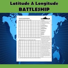 Help your students practice their latitude and longitude skills in a fun and engaging way using this latitude and longitude battleship game. The rules are included right on the template, so this is a no prep activity that comes ready to play. Social Studies Lesson Plans, Social Studies Notebook, 4th Grade Social Studies, Social Studies Classroom, Teaching Social Studies, Teaching History, History Education, Geography Activities, Geography Lessons