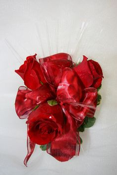 IMG_5655 by AnnesFloral, via Flickr #prom #flowers #corsages #Boutonnieres #bouquets #floral #redflowers