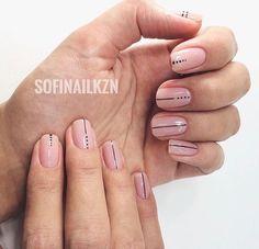 Trendy Nails Art Designs Diy Lines Ideas Nail Manicure, Diy Nails, Cute Nails, Stylish Nails, Trendy Nails, Perfect Nails, Gorgeous Nails, Gel Nagel Design, Lines On Nails