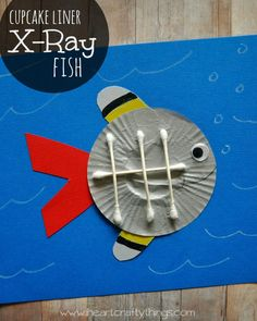 X is for X-Ray Fish Craft using cupcake liners. | Fun craft for the letter X for preschoolers. | from iheartcraftythings.com