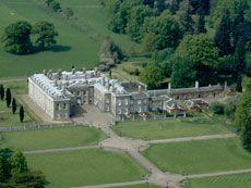 Gardens & Lake at Althorp Estate, England. Final resting place of Princess Diana