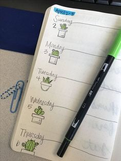 How to add Colour in your Bullet Journal — Square Lime Designs - plant doodles for bujo weekly journal You are in the right place about Cactus indoor Here we offer - Bullet Journal Designs, Bullet Journal Spread, Bullet Journal Inspo, Bullet Journal Layout, My Journal, Journal Pages, Bullet Journal Markers, Bullet Journal Grade Tracker, Bullet Journal Homework