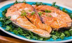 Home & Family - Recipes - Fabio Vivian's Grilled Salmon Steaks | Hallmark Channel