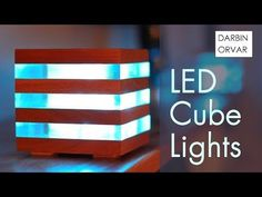 These wood and acrylic LED cubes feature a really cool glow. They utilize RGB light strips, they are daisy chained together and powered with a 5 volt source. Unique Home Decor, Home Decor Items, Lego Lamp, Deco Led, Cool Glow, Used Pallets, Craft Kits For Kids, Led Diy, Bed Lights