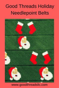 Order one of our Holiday Themed Needlepoint Belts today!