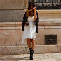 Spotted VILA Dress @Siguen siendo  #VILAClothes #VILA #Clothes #Fashion #Style #Beauty #dress