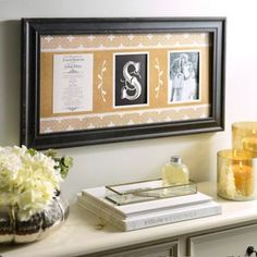 Monogram Wedding Invitation Collage Frame