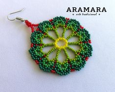 Your place to buy and sell all things handmade Seed Bead Jewelry, Bead Earrings, Flower Earrings, Seed Beads, Beaded Jewelry, Crochet Earrings, Jewellery, Beaded Flowers Patterns, Peyote Patterns