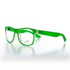 Blue Banana Geek Glasses (Green)