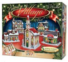 WREBBIT 3D puzzle Vánoční městečko 116 dílků