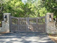 Wooden Gate Designs, Wooden Gates, Wooden Driveway Gates, Farm Gate, Fence Gate, Fences, Driveway Entrance, House Entrance, Farm Entrance Gates