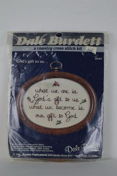 #Dale#Burdett  #CK217 #God'sgifttous... #Cross #Stitch #Kit #DaleBurdett#crafts