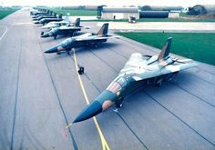 F-111E returns to RAF Upper Heyford, UK after first Gulf War.