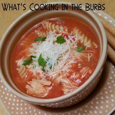 Skinny Crock Pot Chicken Parmesan Soup
