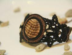 Handmade Bracelet/ Macrame/ Gem/ Stone/ Natural